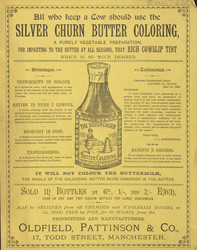 Advert for Silver Churn Butter Colouring